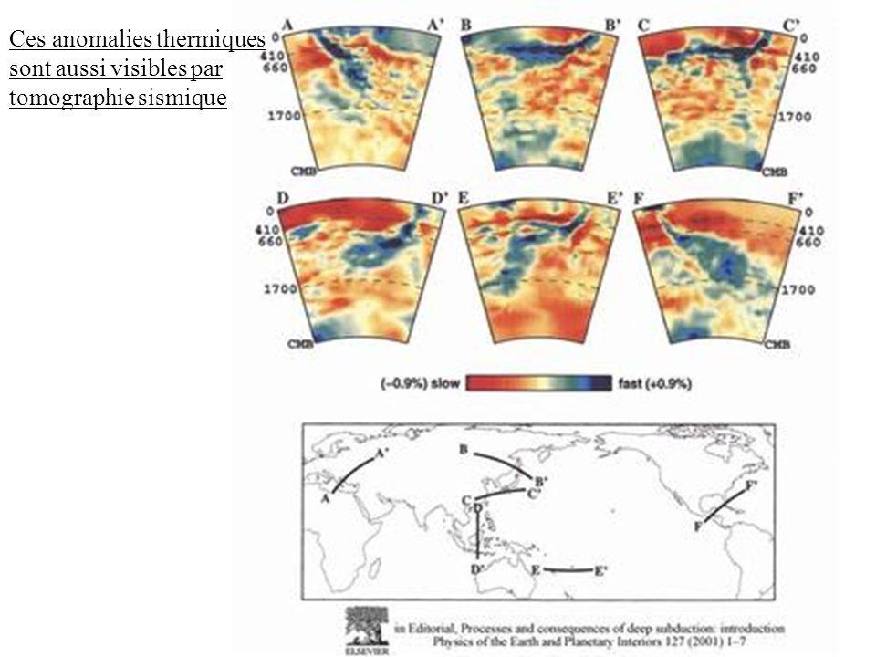 Ces anomalies thermiques sont aussi visibles par tomographie sismique