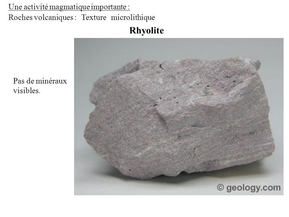 Rhyolite Une activité magmatique importante : Roches volcaniques :