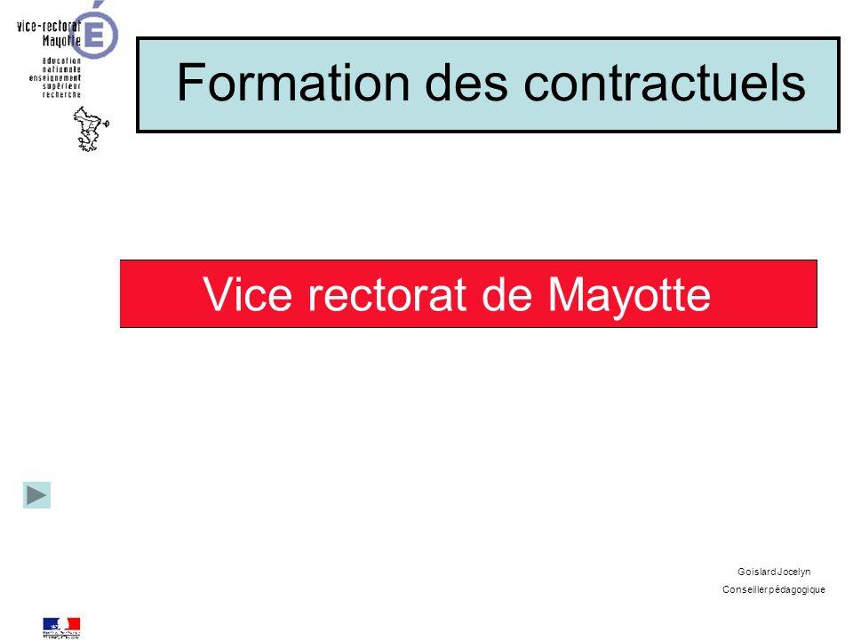 Formation des contractuels