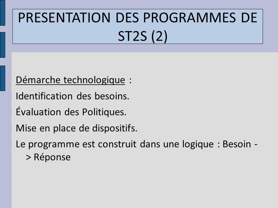 PRESENTATION DES PROGRAMMES DE ST2S (2)