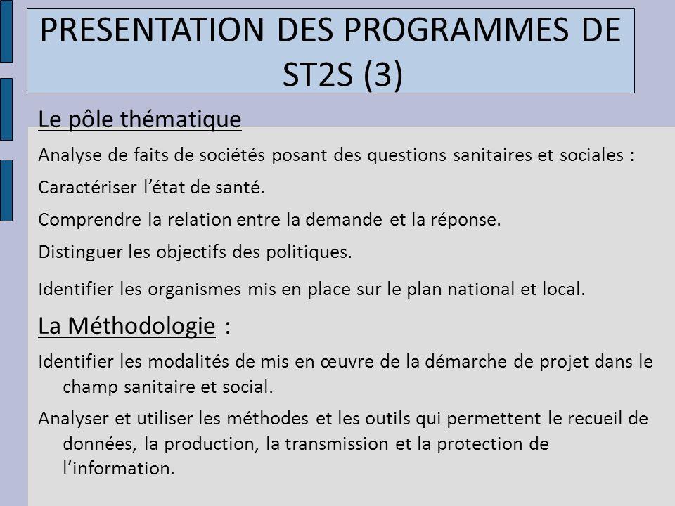 PRESENTATION DES PROGRAMMES DE ST2S (3)