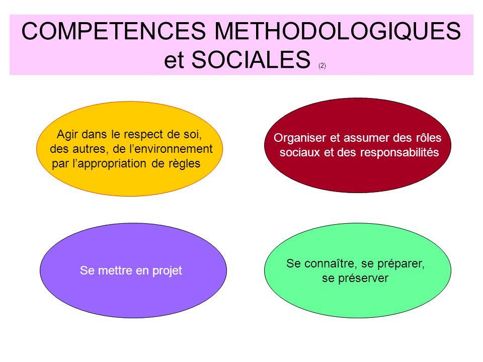 COMPETENCES METHODOLOGIQUES et SOCIALES (2)