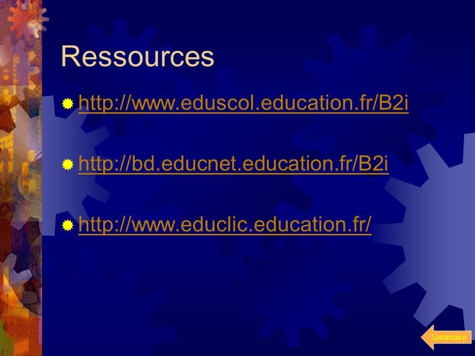 Ressources http://www.eduscol.education.fr/B2i