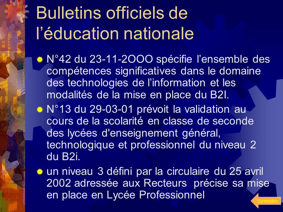 Bulletins officiels de l'éducation nationale