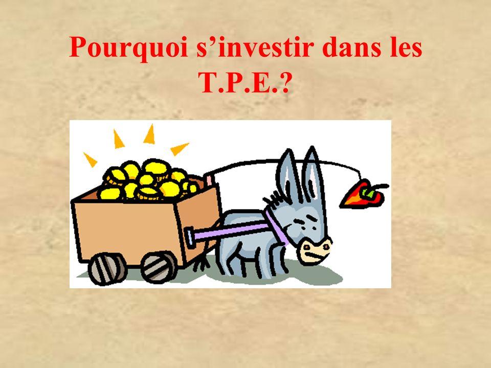 Pourquoi s'investir dans les T.P.E.