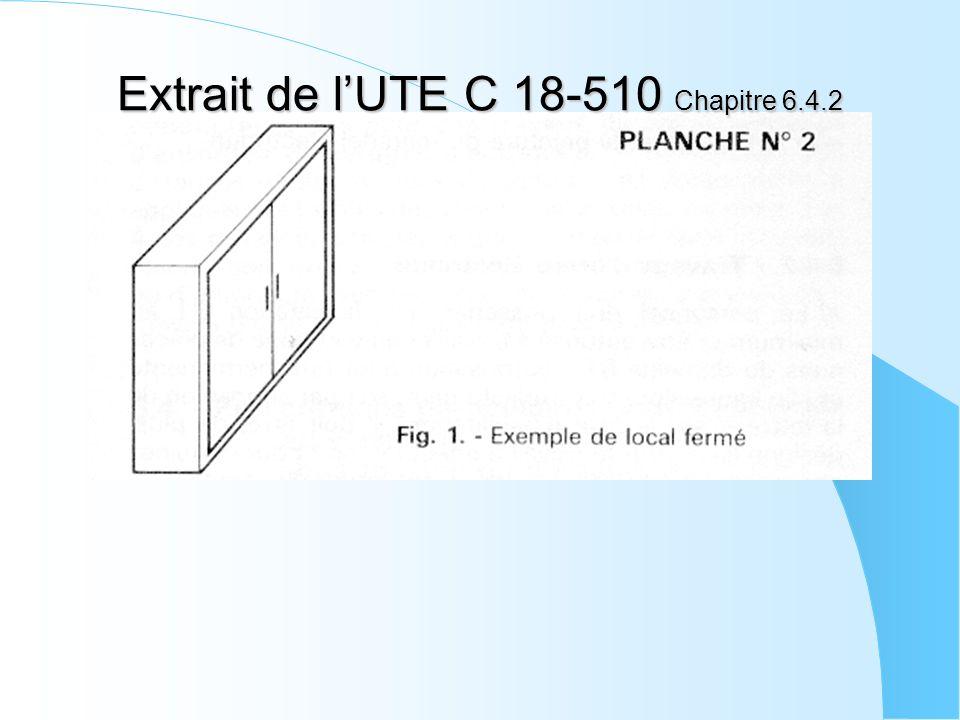 Extrait de l'UTE C 18-510 Chapitre 6.4.2
