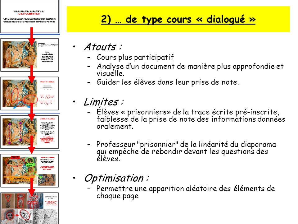 2) … de type cours « dialogué »