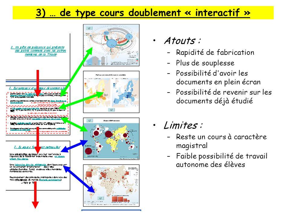 3) … de type cours doublement « interactif »
