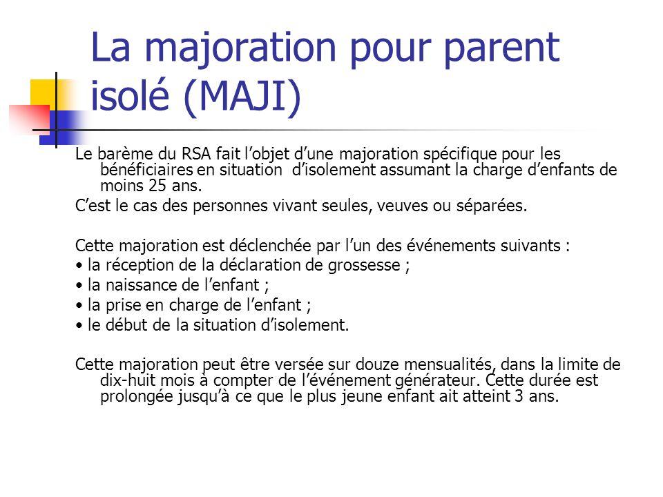 La majoration pour parent isolé (MAJI)