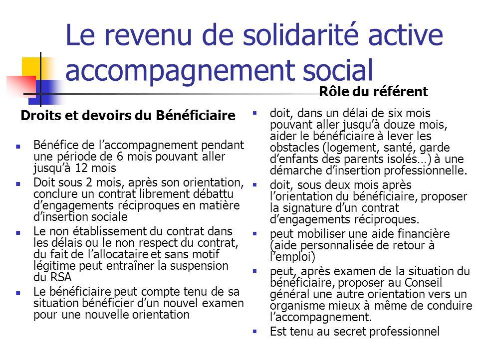 Le revenu de solidarité active accompagnement social