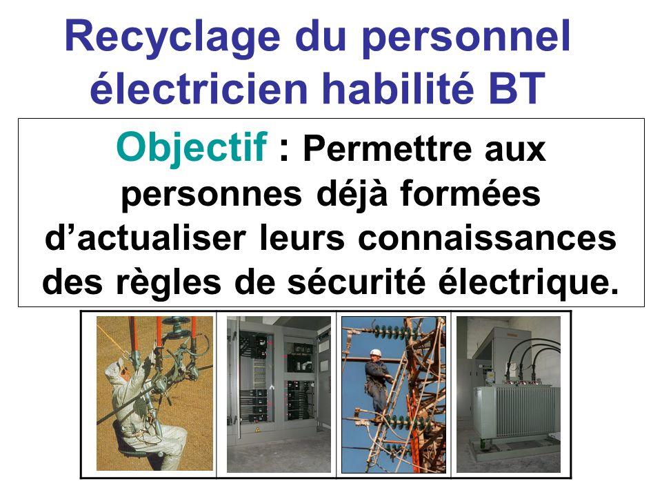 Recyclage du personnel électricien habilité BT