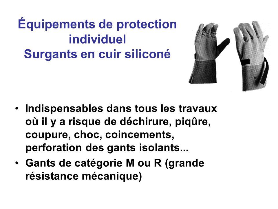 Équipements de protection individuel Surgants en cuir siliconé