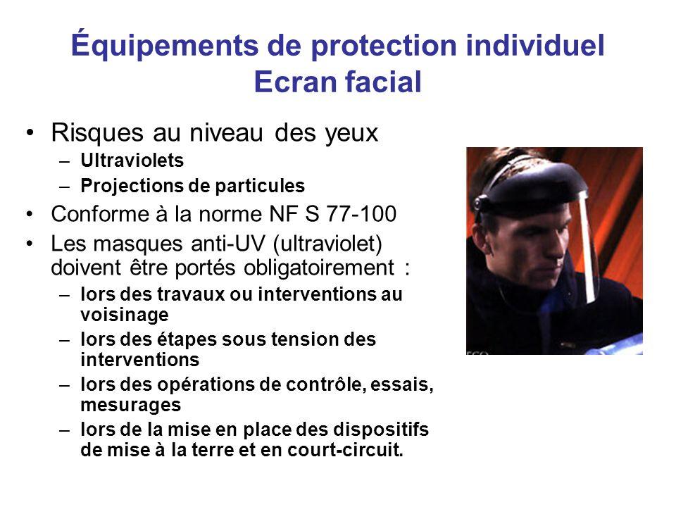 Équipements de protection individuel Ecran facial
