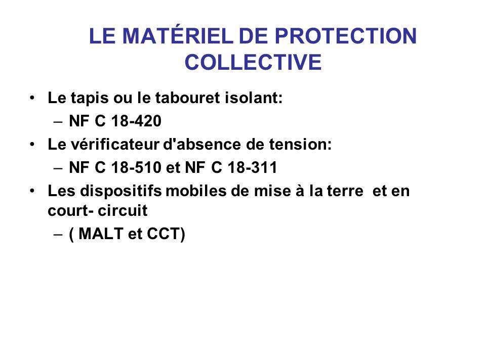 LE MATÉRIEL DE PROTECTION COLLECTIVE