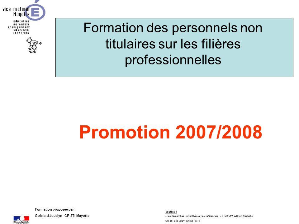 Formation des personnels non titulaires sur les filières professionnelles
