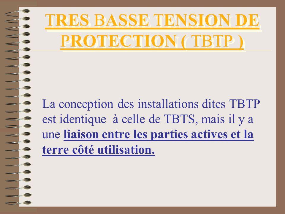 TRES BASSE TENSION DE PROTECTION ( TBTP )