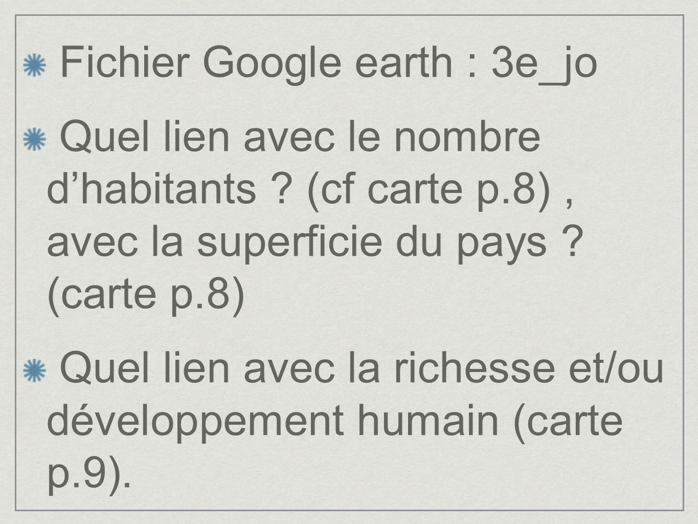 Fichier Google earth : 3e_jo