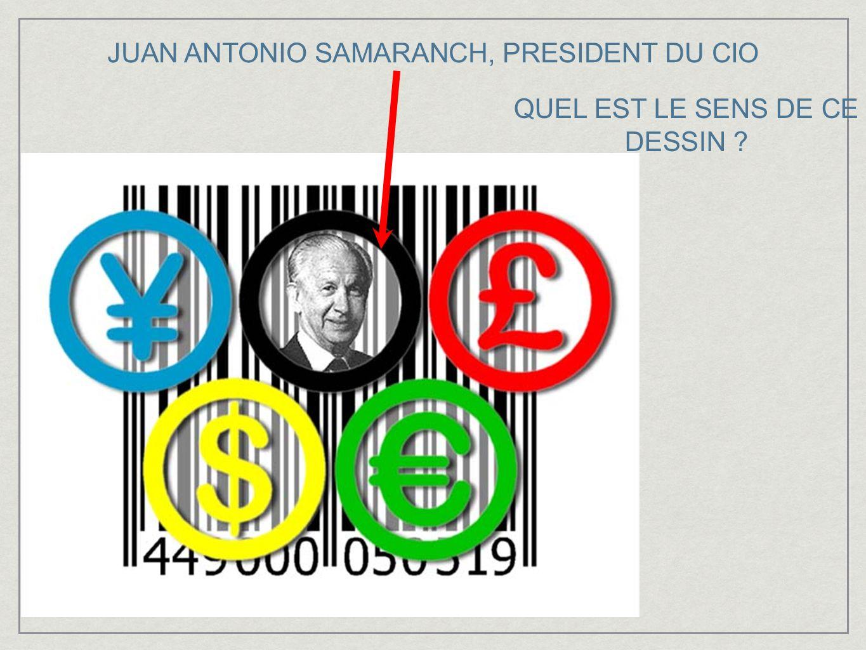 JUAN ANTONIO SAMARANCH, PRESIDENT DU CIO