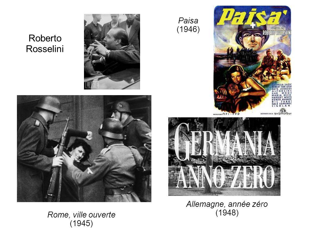 Roberto Rosselini Paisa (1946) Allemagne, année zéro (1948)