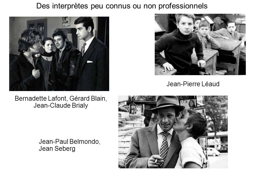 Des interprètes peu connus ou non professionnels