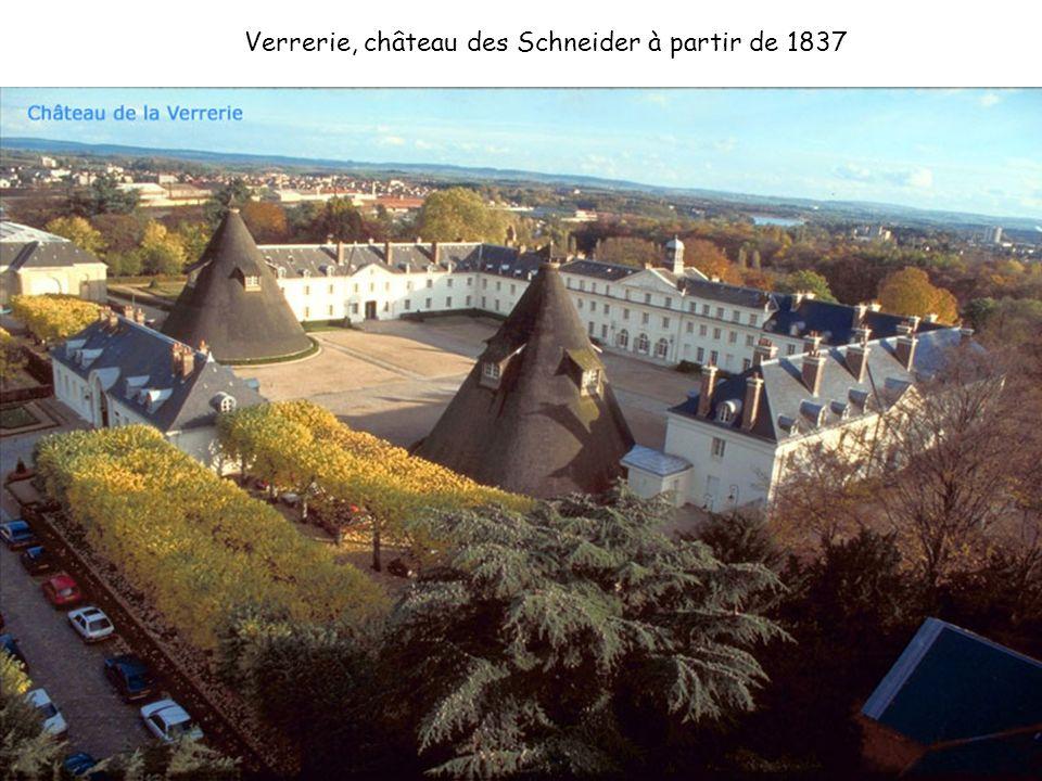 Verrerie, château des Schneider à partir de 1837