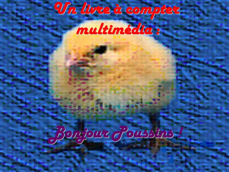 Un livre à compter multimédia : Bonjour Poussins !