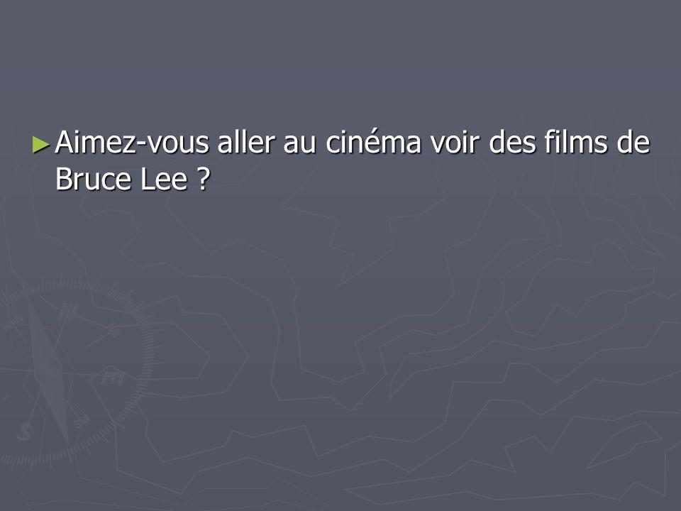 Aimez-vous aller au cinéma voir des films de Bruce Lee