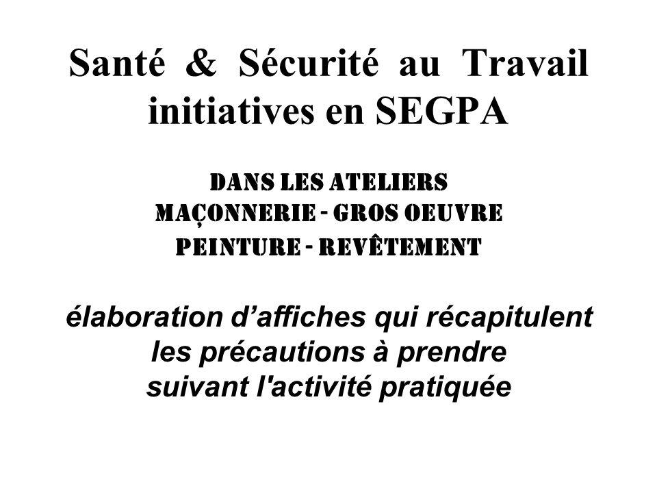 Santé & Sécurité au Travail initiatives en SEGPA