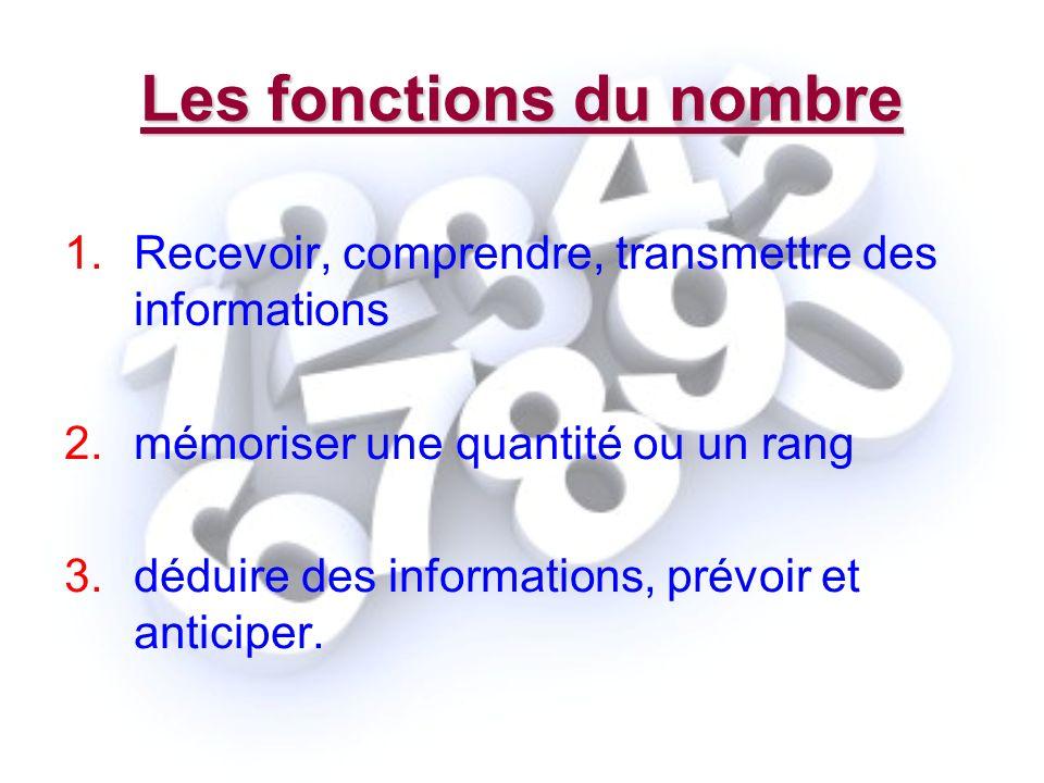 Les fonctions du nombre
