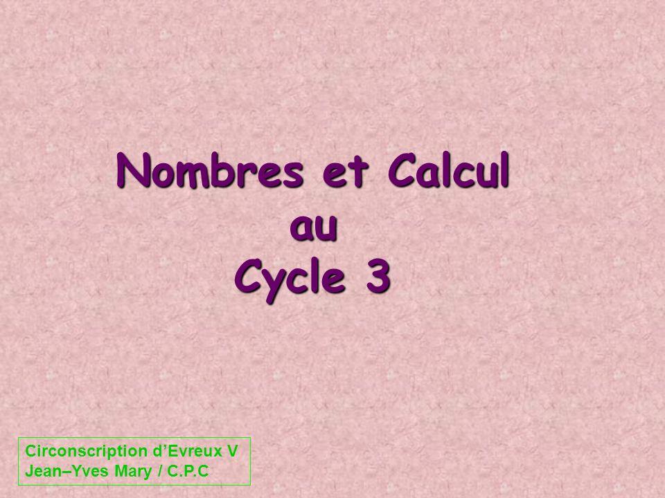 Nombres et Calcul au Cycle 3