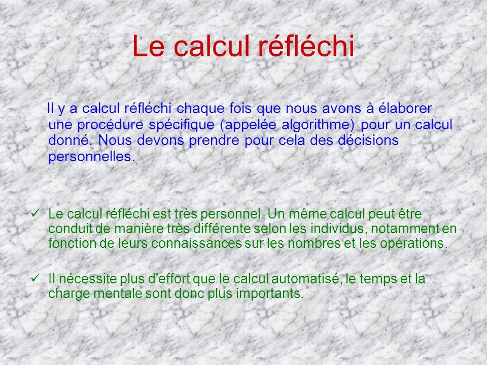 Le calcul réfléchi