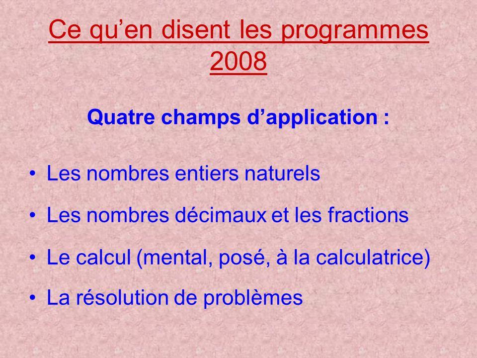 Ce qu'en disent les programmes 2008
