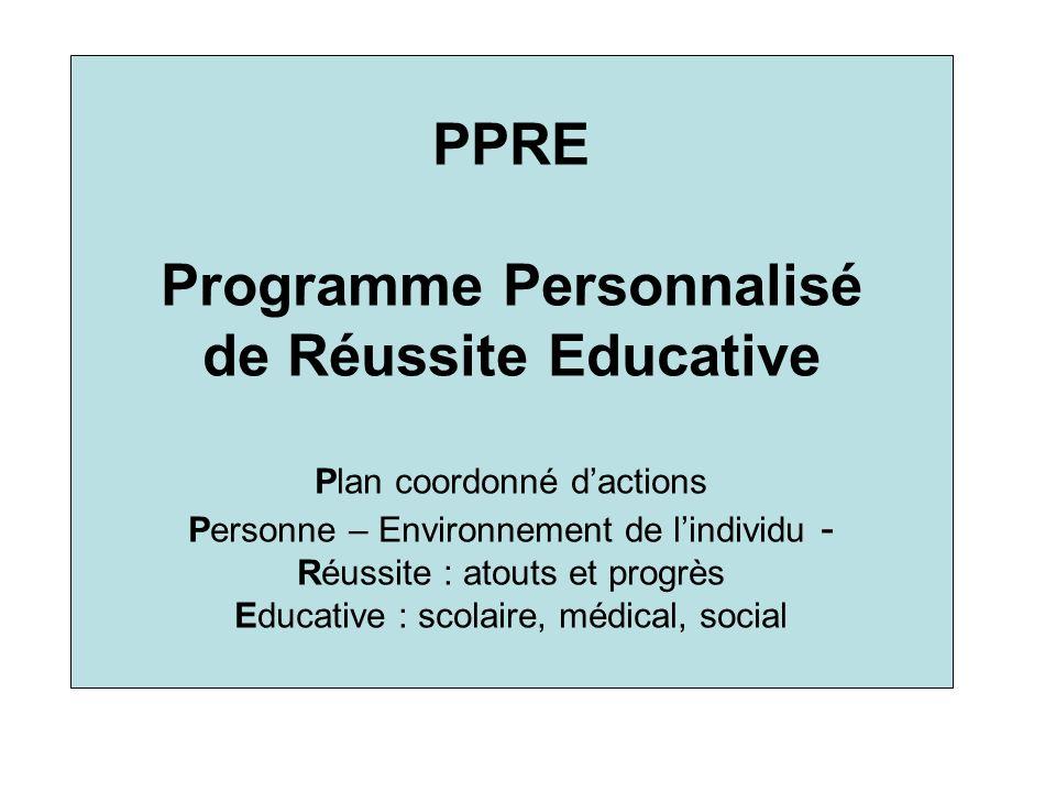 Programme Personnalisé de Réussite Educative