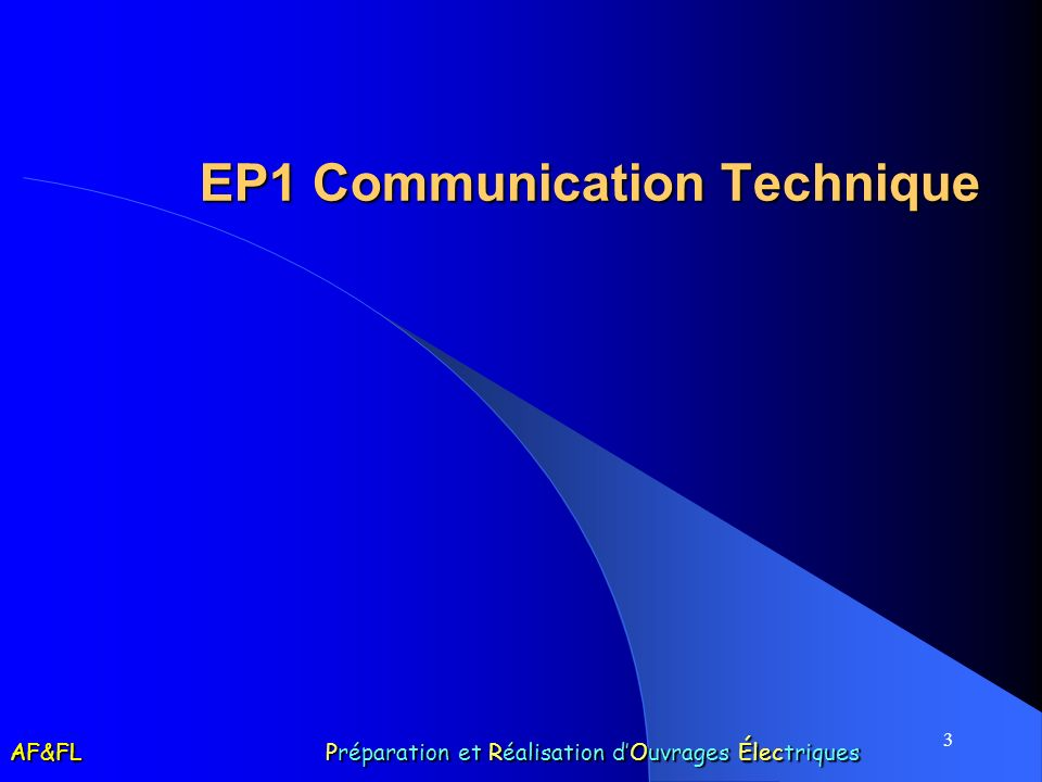 EP1 Communication Technique