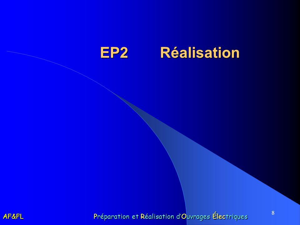 EP2 Réalisation AF&FL Préparation et Réalisation d'Ouvrages Électriques