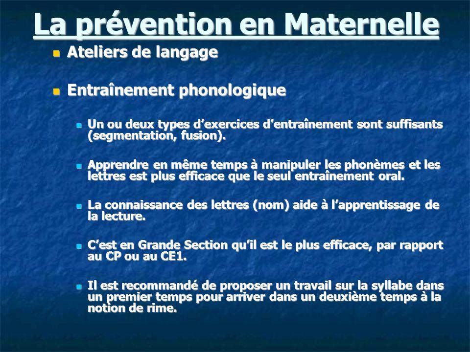 La prévention en Maternelle