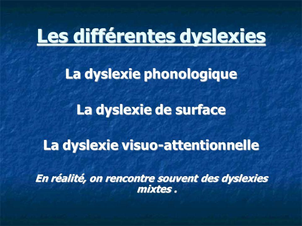 Les différentes dyslexies