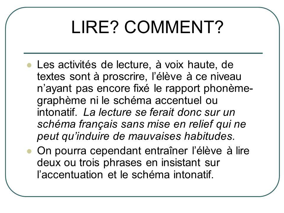 LIRE COMMENT