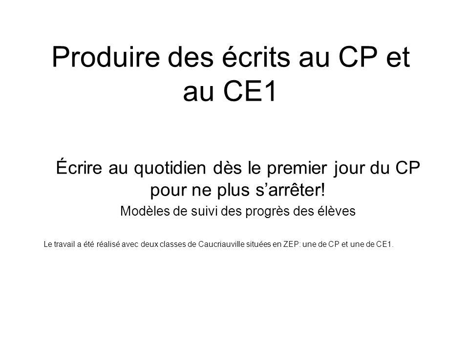 Produire des écrits au CP et au CE1