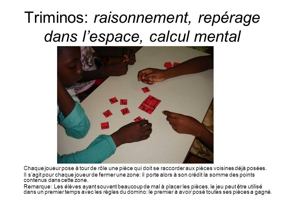 Triminos: raisonnement, repérage dans l'espace, calcul mental
