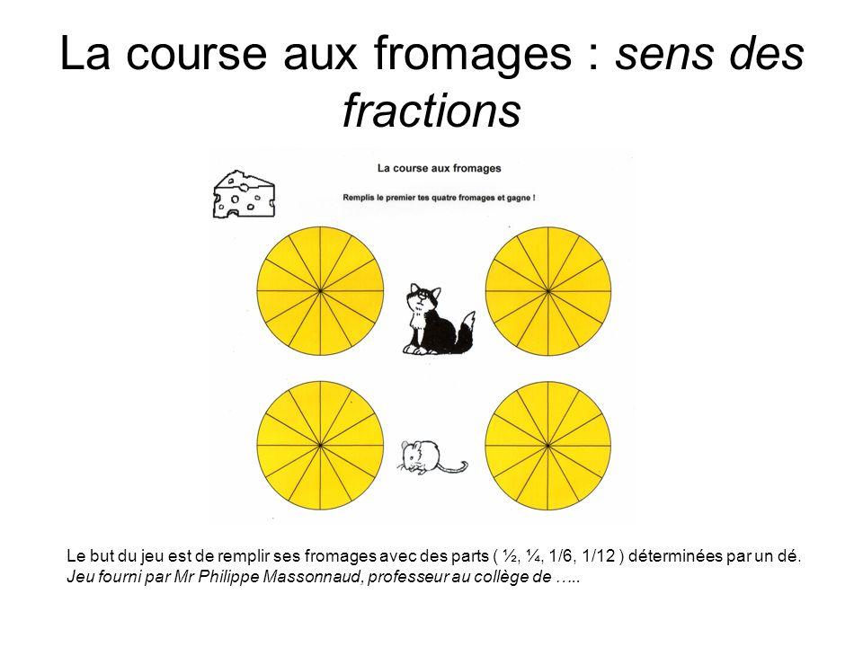 La course aux fromages : sens des fractions