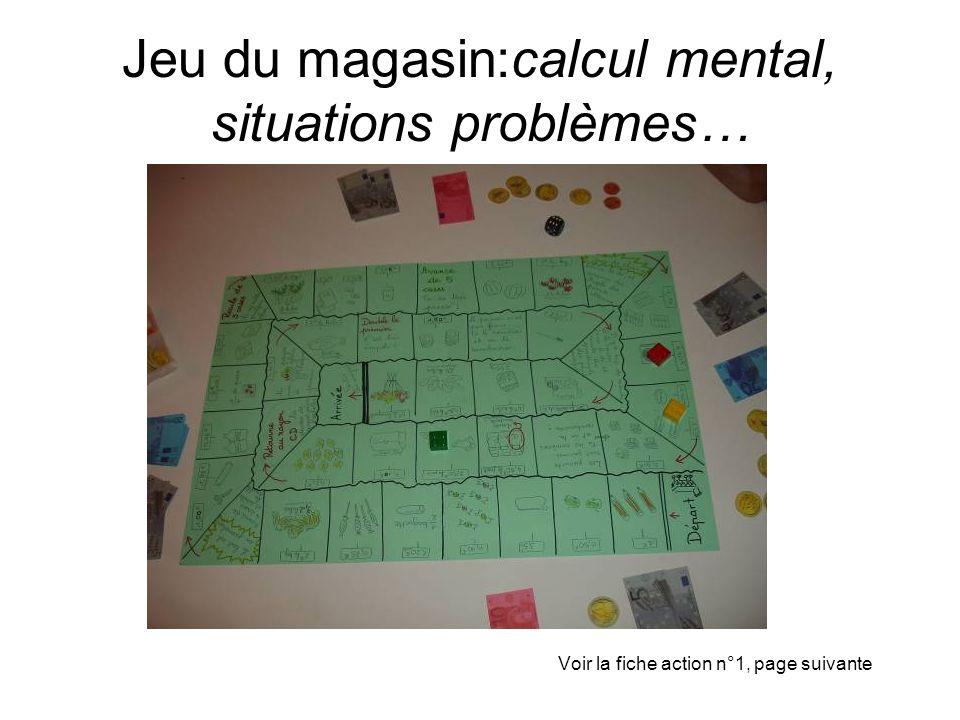 Jeu du magasin:calcul mental, situations problèmes…