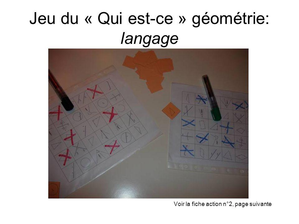 Jeu du « Qui est-ce » géométrie: langage