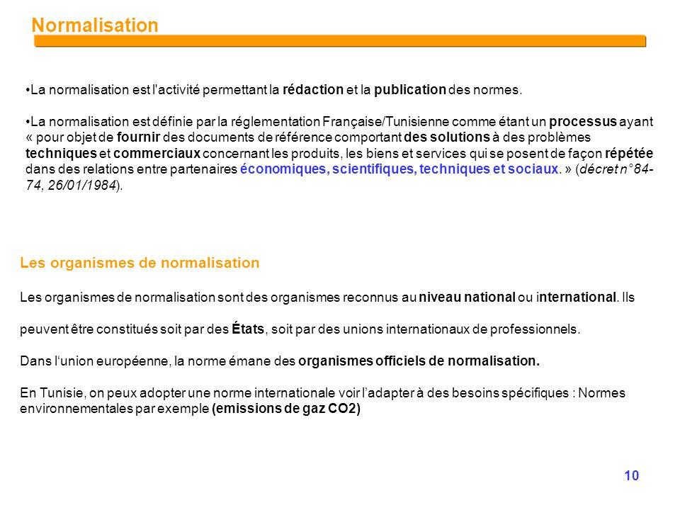Module connaissances normative et r glementation en - Exemple facon de entre villa en tunisie ...