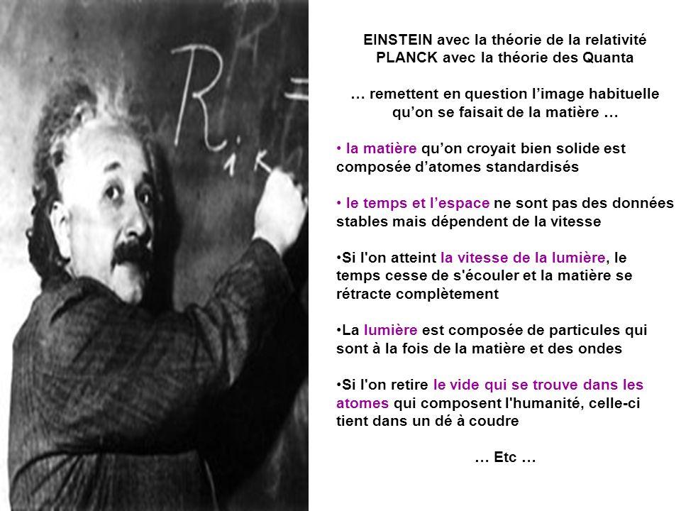 EINSTEIN avec la théorie de la relativité