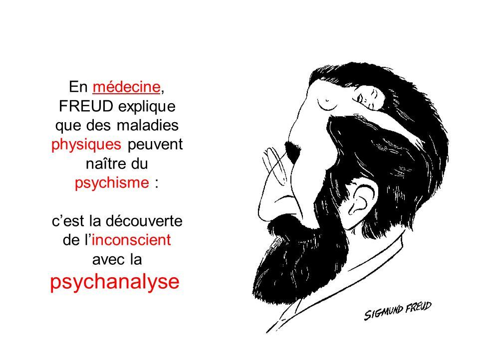 c'est la découverte de l'inconscient avec la psychanalyse