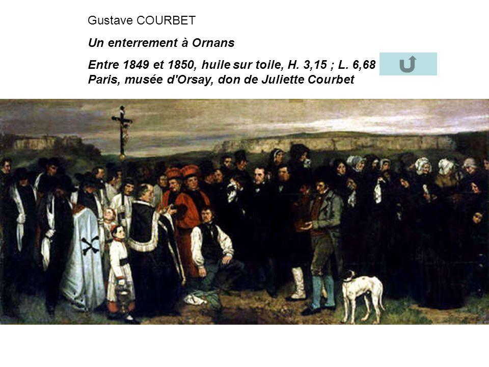 Gustave COURBET Un enterrement à Ornans. Entre 1849 et 1850, huile sur toile, H.