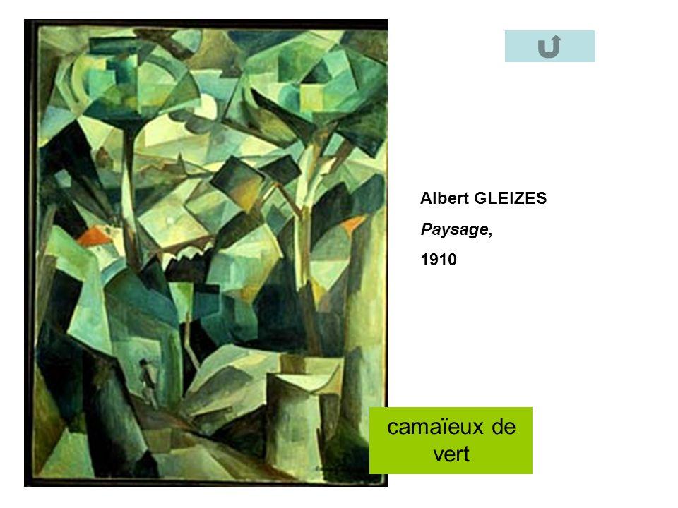 Albert GLEIZES Paysage, 1910 camaïeux de vert