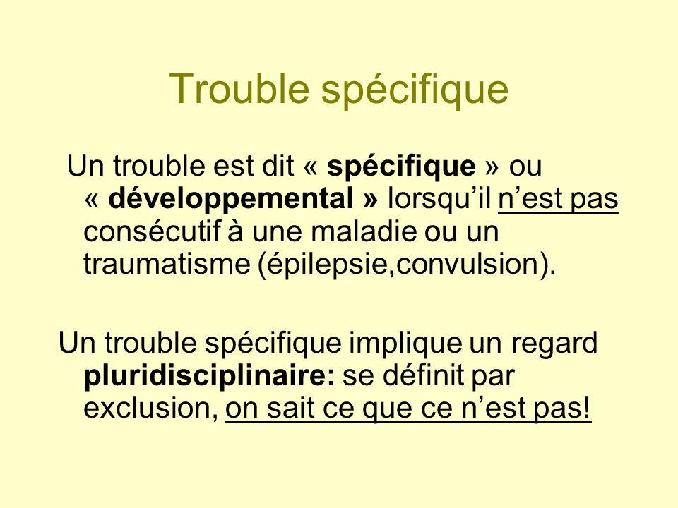 Trouble spécifique