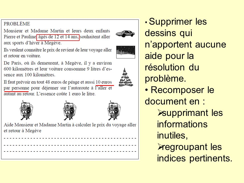 Recomposer le document en : supprimant les informations inutiles,